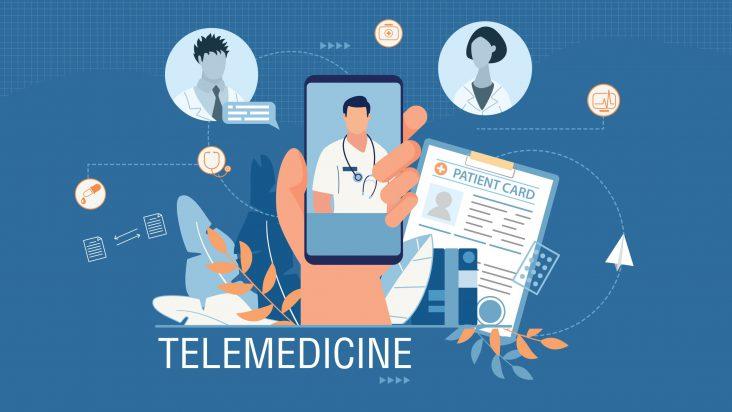 illustration depicting telemedicine